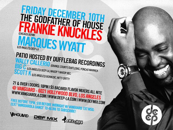 Fr, 12/10 Frankie Knuckles +